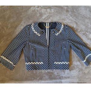 Trina Turk cropped jacket size 0
